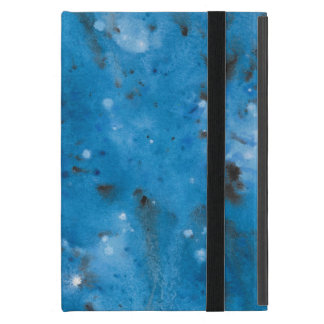 Dark Blue Marble Splat iPad Mini Cover