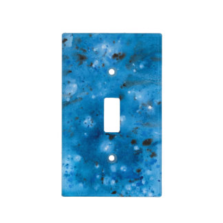 Dark Blue Marble Splat Light Switch Cover