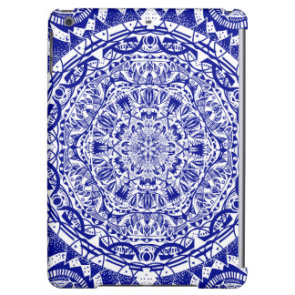Dark Blue Mehndi Mandala iPad Air Cases