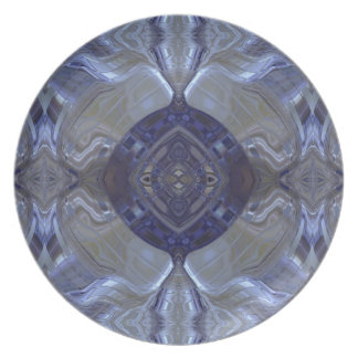 Dark blue metal dinner plates