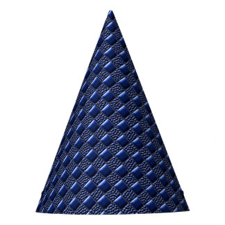 Dark Blue Metallic Party Hat