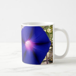 Dark Blue Morning  Glory Mug