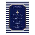 Dark Blue Nautical Bridal Shower Invitation