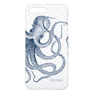 Dark-Blue Octopus & Dots Pattern iPhone 8 Plus/7 Plus Case