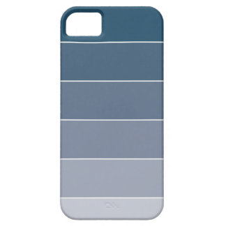 Dark Blue Ombré Stripes iPhone 5 Covers
