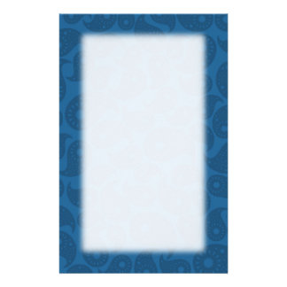 Dark Blue Paisley. Stationery Design