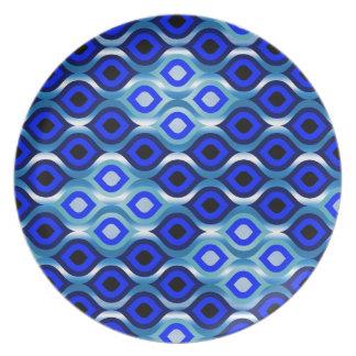 Dark Blue Party Plate
