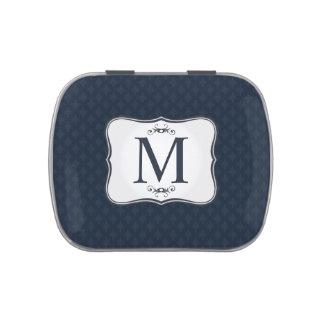 Dark Blue Pattern – Classy Men's Monogram