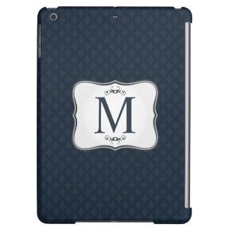 Dark Blue Pattern – Classy Men's Monogram iPad Air Case