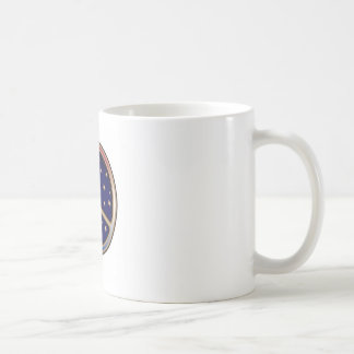 DARK BLUE PEACE SIGN COFFEE MUG