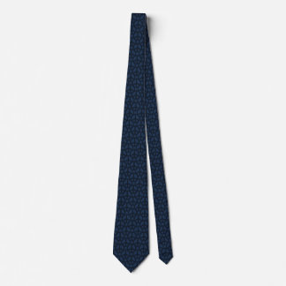 Dark Blue Peace Sign Tie