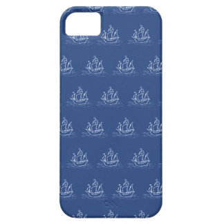 Dark Blue Pirate Ship Pattern. iPhone 5 Cover
