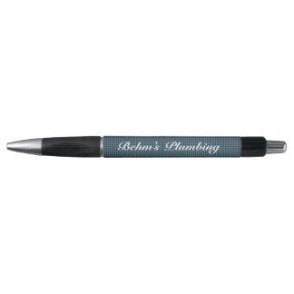 Dark Blue Plaid | Personalize Pen
