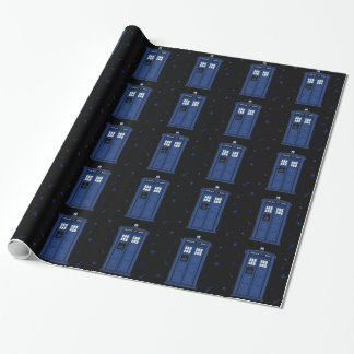 Dark Blue POLICE Box starry night Geek paper
