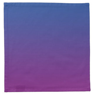 Dark Blue & Purple Ombre Napkin
