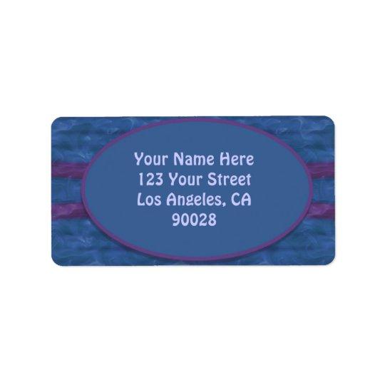 dark blue purple texture label