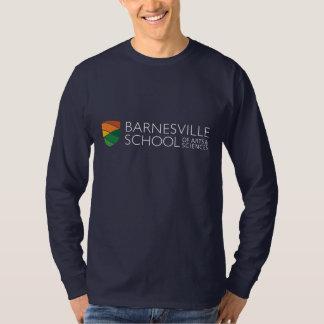 Dark Blue Rectangle Logo Long Sleeved T-shirt