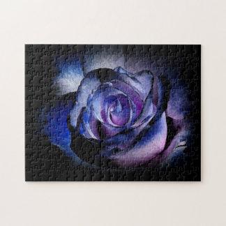 Dark Blue Rose Puzzles