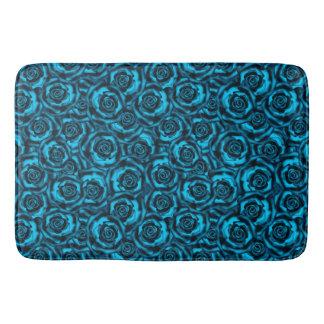 Dark blue roses bath mat