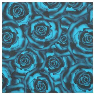 Dark blue roses fabric