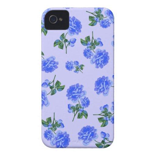 Dark Blue Roses floral pattern purple blackberry Case-Mate Blackberry Case