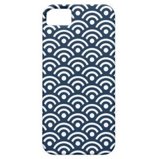 Dark Blue Seigaiha Pattern iPhone 5 Case