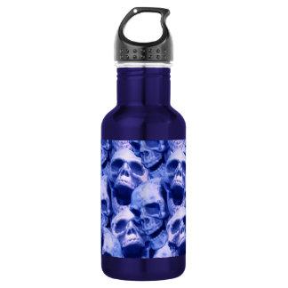 Dark Blue Skulls 532 Ml Water Bottle
