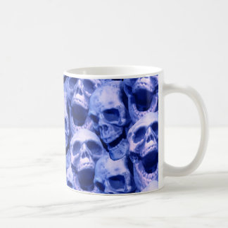 Dark Blue Skulls Coffee Mug
