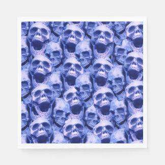 Dark Blue Skulls Napkin
