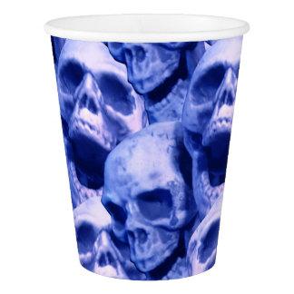 Dark Blue Skulls Paper Cup