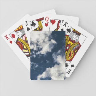 Dark blue sky and beautiful clouds playing cards