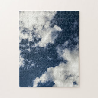 Dark blue sky and beautiful clouds puzzles