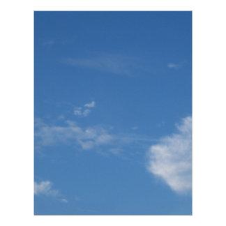 dark blue sky white clouds letterhead