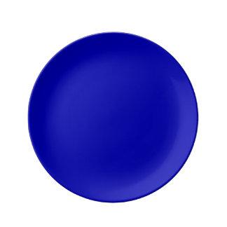 Dark Blue Solid Colour Porcelain Plates