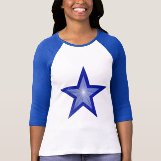 Dark Blue Star women's 3/4 length raglan blue T-Shirt