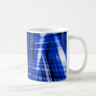 Dark blue streaks pattern coffee mug