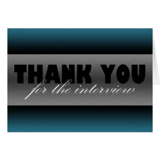 "Dark Blue ""Thank you for the interview"" Card"