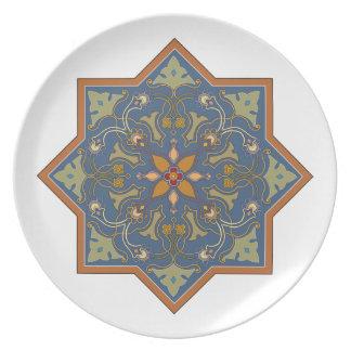 Dark Blue Vignette Plate