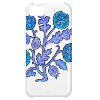 Dark Blue Vintage Embroidery Style Flowers Case For iPhone 5C
