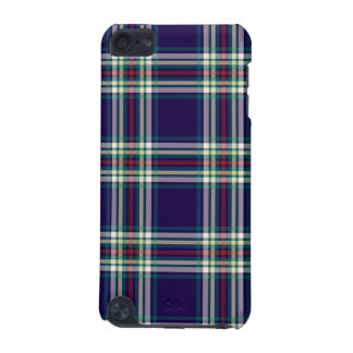 Dark Blue Vintage Plaid iPod Touch (5th Generation) Cases