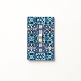 Dark Blue Violet Turquoise Hip Orient Bali Art Light Switch Cover