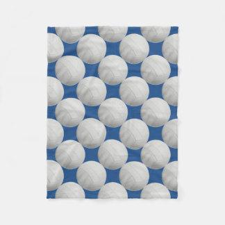 Dark Blue Volleyball Fleece Blanket
