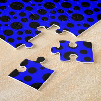 Dark Blue w/Black Circles Jigsaw Puzzle