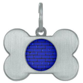Dark Blue Wall Pet Name Tag