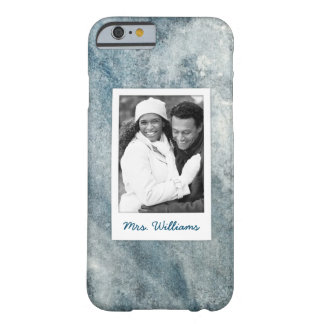 Dark Blue Watercolor | Add Photo Barely There iPhone 6 Case