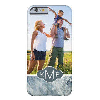Dark Blue Watercolor | Monogram Barely There iPhone 6 Case