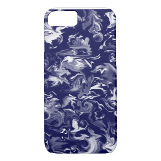 Dark Blue & White mixed color phone case