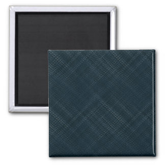 Dark Blue With Checkered Pinstripe Square Magnet