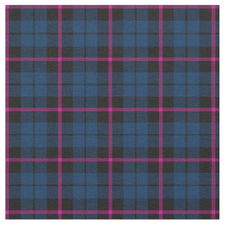 dark blue with pink strip plaid print fabric