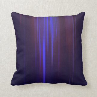 Dark Blue with Purple Streaking Abstract Throw Pillow